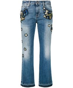 Roberto Cavalli | Embroidered Cropped Jeans