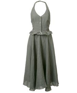 MA+ | Ruffled Waist Fla Dress 40 Linen/Flax