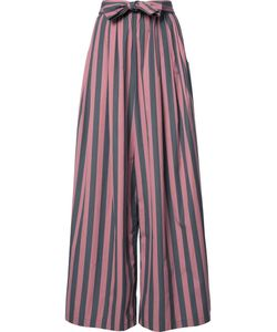 TOME | Wide Stripe Long Karate Trousers Medium Cotton