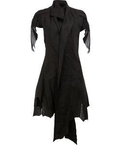 AGANOVICH | Shawl Lapel Asymmetric Jacket 36 Linen/Flax