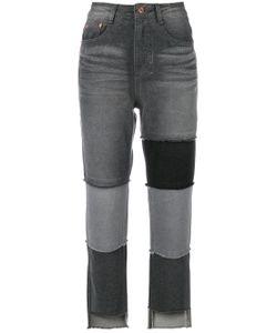 SJYP | High Waist Patch Jeans