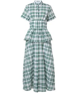 Rosie Assoulin | Peplum Plaid Dress 4 Cotton/Polyamide/Polyester