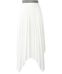 Aviù | Pleated Asymmetric Skirt 40 Polyester