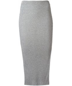 Mugler | Ribbed Knit Skirt Xs Cotton/Viscose/Polyester