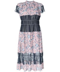 Kolor | Sheer Detail Fla Dress 2 Cotton/Lyocell