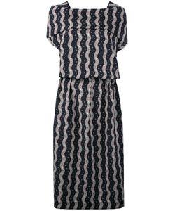 Loewe   Wavy Print Midi Dress 36 Cotton/Polyester
