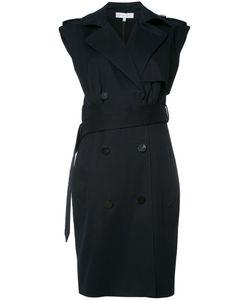 Nellie Partow | V-Neck Wrap Dress 10 Silk/Cotton