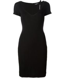 Dsquared2 | V-Neck Dress Large Viscose/Polyamide/Spandex/Elastane