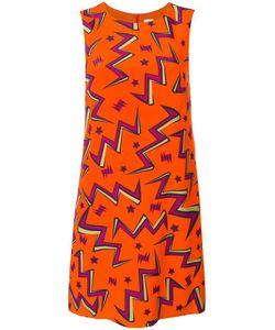 Missoni | Stars Print Shift Dress 40 Silk/Acetate/Polyester