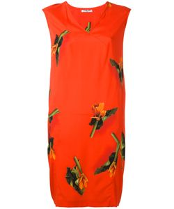Cacharel | Leaf Print Dress 36 Silk/Spandex/Elastane