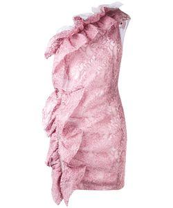 MSGM | Кружевное Платье На Одно Плечо