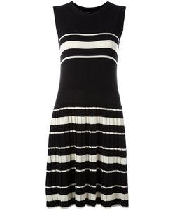 Chinti And Parker | Pleated Knitted Dress Small Silk/Cotton