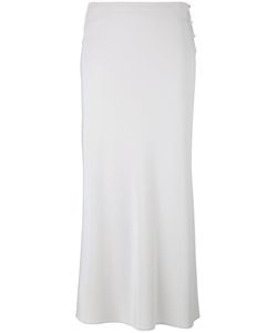 Calvin Klein Collection | Side Button Skirt 42 Silk