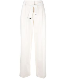 Giorgio Armani | High-Waisted Wide Leg Trousers 38 Spandex/Elastane/Mulberry