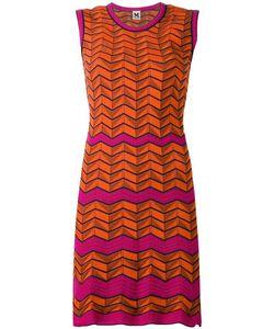 Missoni | Geometric Pattern Knitted Dress 40 Cotton/Polyamide/Spandex/Elastane/Polyester
