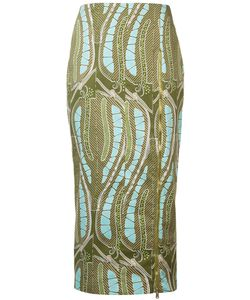 Sophie Theallet | Leaf Print Fitted Skirt Size
