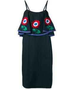 DAFT | Платье Шифт С Цветочной Вышивкой
