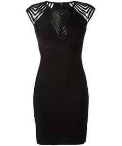 Hervé Léger | Zig Zag Trim Dress Size Xs Rayon/Neoprene/Spandex/Elastane