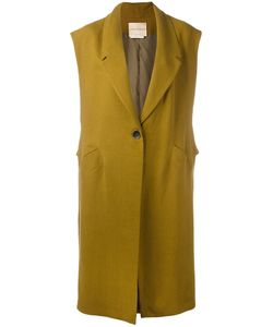 Erika Cavallini | Loosely Tailored Sleeveless Coat Size