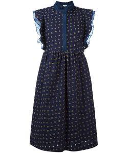 Manoush   Volant Denim Dress 40 Cotton/Polyester