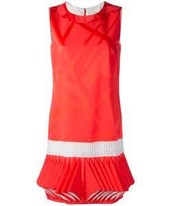 CAPUCCI   Abito Folded Hem Dress 48 Acetate/Viscose/Silk/Spandex/Elastane