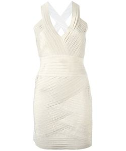 Pierre Balmain | V-Neck Fitted Dress 38 Elastodiene/Polyester