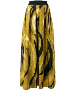 Alberta Ferretti | Printed Pleated Skirt 40 Silk/Cotton/Polyester/Polyamide