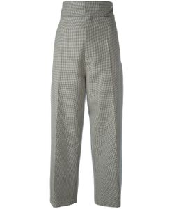 JACQUEMUS | Houndstooth Straight Leg Trousers