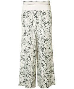 Victor Alfaro | Wide-Legged Cropped Trousers 8 Rayon/Spandex/Elastane