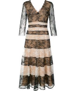 Carolina Herrera | Полосатое Кружевное Платье