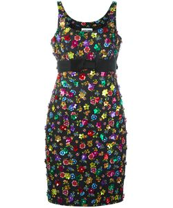 Moschino | Flower Power Dress 42 Cotton/Rayon/Acetate/Plastic