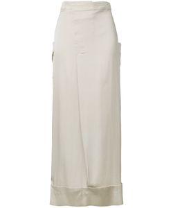Rito   Straight Midi Skirt Size 38 Silk/Polyurethane