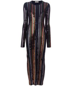 Nina Ricci | Sequin Embellished Long Fitted Dress Small Viscose