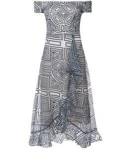 Nicole Miller | Платье С Принтом И Открытыми Плечами