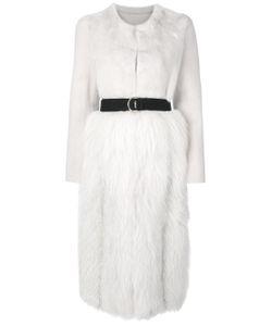 Blancha   Belted Long Fur Coat