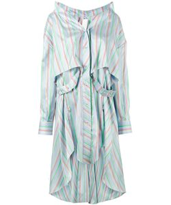 ESTEBAN CORTAZAR | Stripe Asymmetric Shirt Dress Size 34