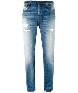 Current/Elliott | Distressed Straight Jeans 28