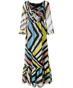 Steffen Schraut | Striped Long Dress 40 Polyester