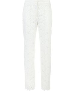 Monique Lhuillier | Embroide Slim-Fit Trousers 8 Polyester