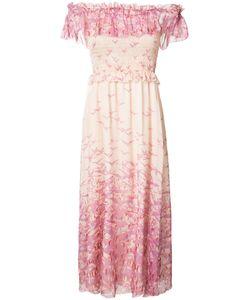 GIAMBA | Bardot Bird Print Dress Size 42