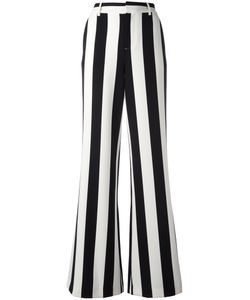 Alice + Olivia | Striped Wide-Legged Trousers 8 Polyester/Spandex/Elastane
