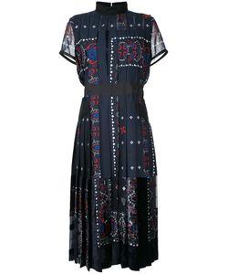 Sacai | Платье Мили С Плиссировкой