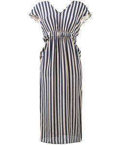 Fendi | V-Neck Stripe Dress 42 Silk