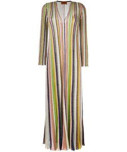 Missoni | Striped Wrap Dress 42 Cupro/Viscose/Polyester/Silk