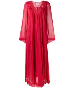Forte Forte | Long Embroide Dress I Silk/Cotton