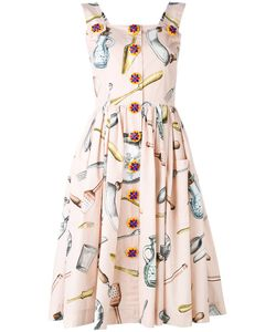 Dolce & Gabbana | Printed Pinafore Dress