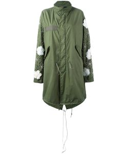 Night Market | Embellished Military Coat Small Cotton/Nylon/Silk