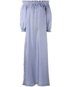 P.A.R.O.S.H. | P.A.R.O.S.H. Long Striped Off The Shoulder Dress