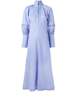 Ellery | Puffed Sleeve Maxi Shirt Dress