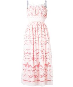 Just Cavalli | Sheer Laye Midi Dress 42 Cotton/Polyester/Viscose